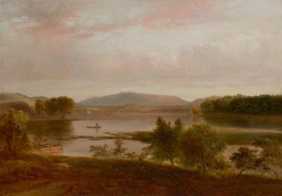 Thomas Doughty Boating on the Lake Peekskill New York