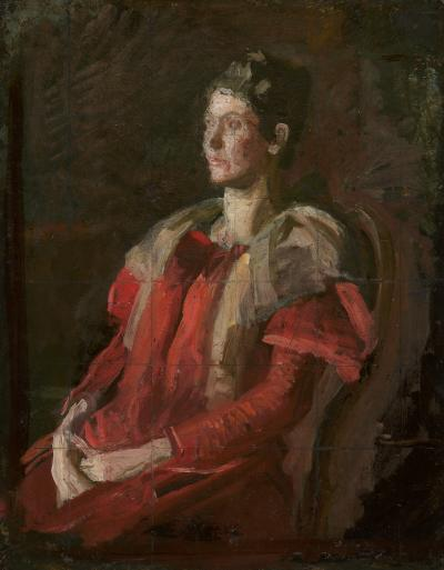 Thomas Eakins Sketch for Portrait of Mrs Charles L Leonard