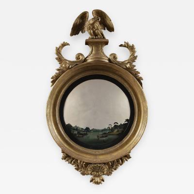 Thomas Fentham A Pair Of Regency Giltwood Convex Mirrors By Thomas Fentham