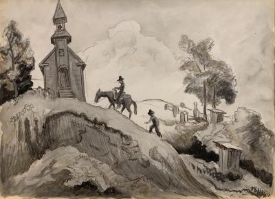 Thomas Hart Benton Going to Church