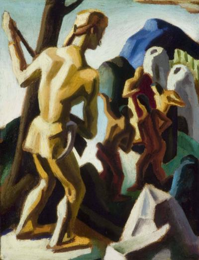 Thomas Hart Benton Study for the Pathfinder 1925