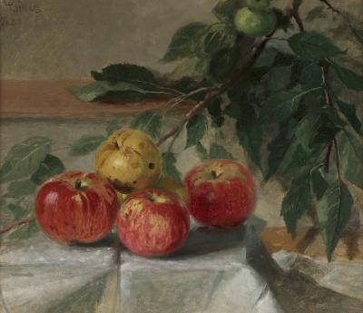 Thomas Hicks Still Life with Apples