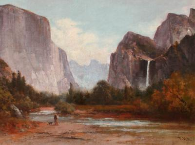 Thomas Hill Fishing in Yosemite Valley