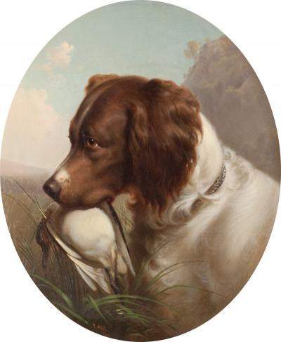 Thomas Hill Hunting Dog 1865