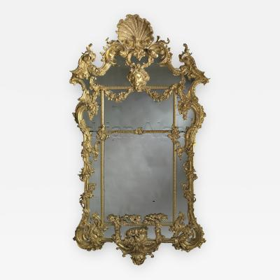 Thomas Johnson A Large Carved Giltwood Rococo Mirror