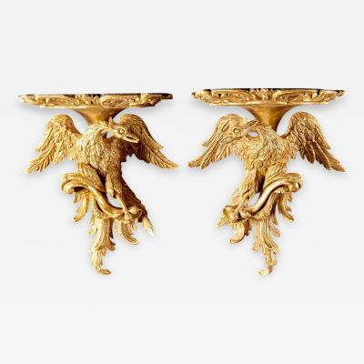 Thomas Johnson Extraordinary Carved Giltwood Wall Brackets Attributed to Thomas Johnson