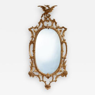 Thomas Johnson Georgian Oval Rococo Mirror