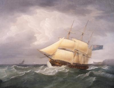 Thomas Luny Action off a Lee Shore
