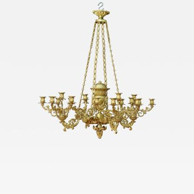 Thomas Messenger Sons A Regency Twenty Light Chandelier