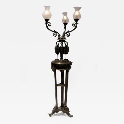 Thomas Messenger Sons FLOOR STANDING BRONZE CANDELABRA