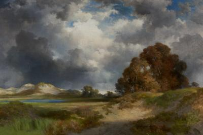 Thomas Moran An East Hampton Landscape