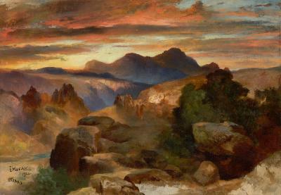Thomas Moran Sunset