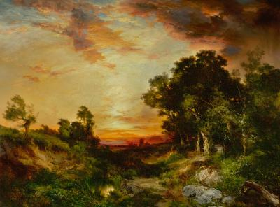 Thomas Moran Sunset Amagansett