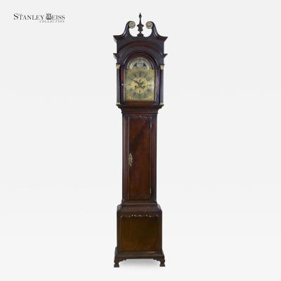 Thomas Pierce A Magnificent Mahogany Chippendale English Tall Case Clock with Tides c 1760 80