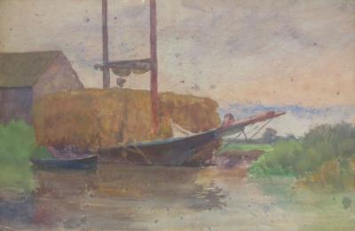Thomas Pollock Anshutz Boats by the Shore