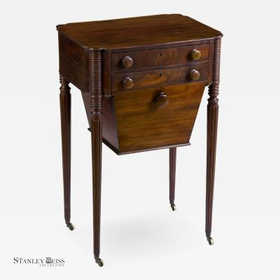 Thomas Seymour A Fine Classical Sheraton Mahogany Worktable Boston c 1805 1810