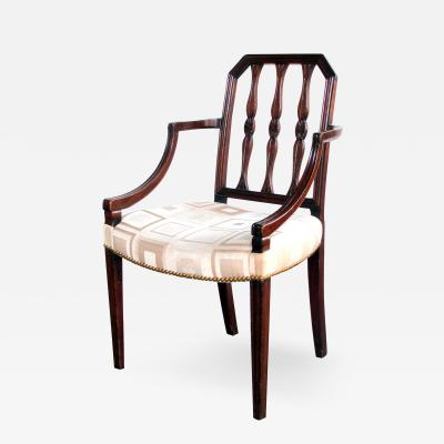 Thomas Sheraton A Handsome English George III Sheraton Mahogany Armchair