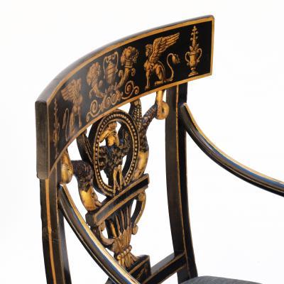 Thomas Sheraton An Early American Regency Chair After Sheraton
