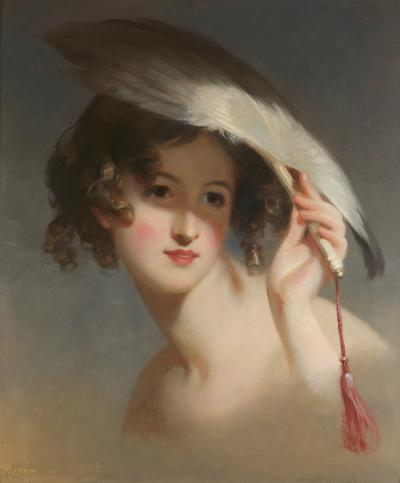 Thomas Sully Girl with a Fan Blanche Sully