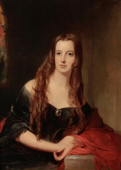 Thomas Sully Portrait of Miss Elizabeth Janney by Thomas Sully