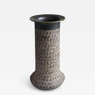 Thomas Tengods Brutalist Style Vase by Tomas Tengods for Nittsjo