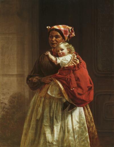 Thomas Waterman Wood Nurse and Child