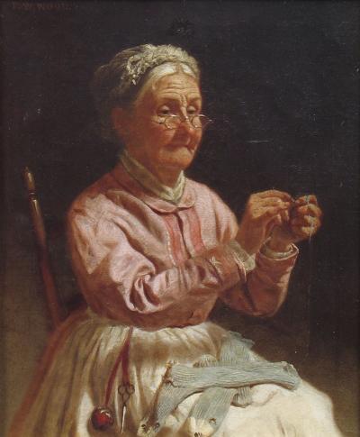 Thomas Waterman Wood Threading a Needle