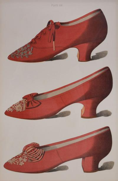 Thomas Watson Greig A Group of Four Ladies Dress Shoes of the Nineteenth Century