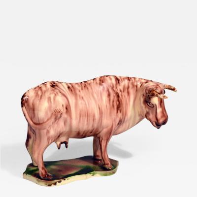 Thomas Whieldon Whieldon type Rare Lead glaze Creamware Model of a Cow