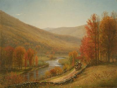 Thomas Worthington Whittredge Scene on the Upper Delaware River