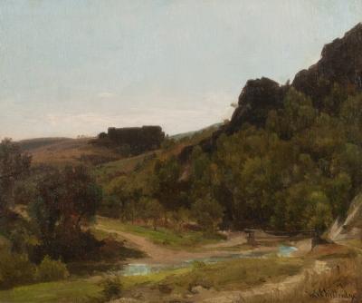 Thomas Worthington Whittredge Sketch in the Harz Mountains