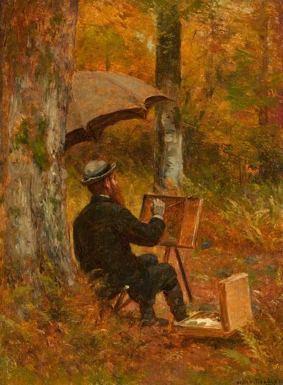 Thomas Worthington Whittredge The Artist at His Easel