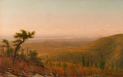 Thomas Worthington Whittredge The Hudson Valley from the Catskill Mountains