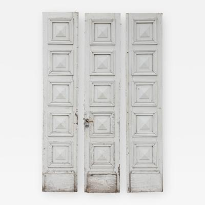 Three Antique French Doors