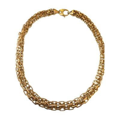 Three Dimensional Gold Necklace