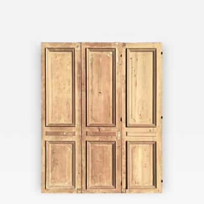 Three Large French Louis XVI Doors in Pine circa 1800