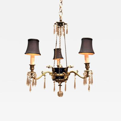 Three Light Classical Style Chandelier Circa 1890 Sweden