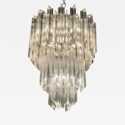 Three Tier Hollywood Regency Lucite Chandelier