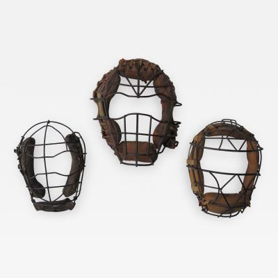 Three Vintage Baseball Catchers Masks