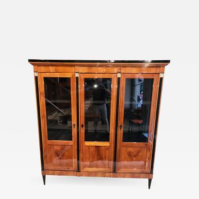 Three doored Empire Biedermeier Bookcase
