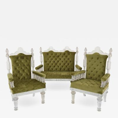Three piece furniture set in the manner of F C Osler