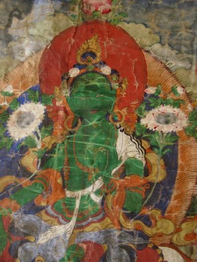 Tibetan 18th Century Green Tara Thangka