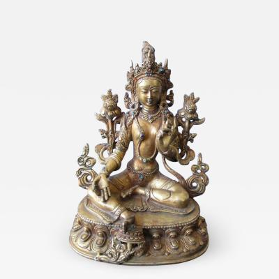 Tibetan Bronze Seated Figure of Tara