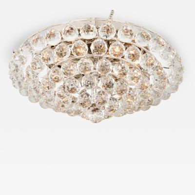 Tiered Crystal Ball Flush Mount Fixture