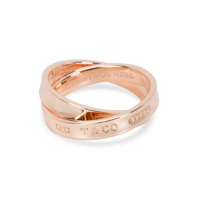 Tiffany Co 1837 Rubedo Interlocking Circles Ring in 8K Rose Gold