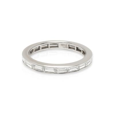 Tiffany Co Baguette Diamond Eternity Wedding Ring in Platinum 1 10 CTW