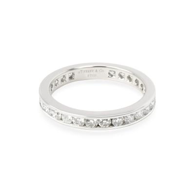 Tiffany Co Channel Set Diamond Band in Platinum 1 40 CTW