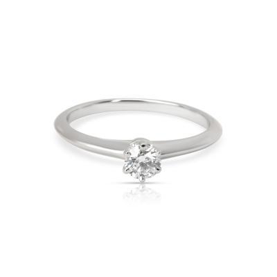 Tiffany Co Classic Diamond Solitaire Ring in Platinum H VS 0 23 CTW