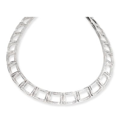 Tiffany Co Diamond Choker Necklace in Platinum 6 13 CTW