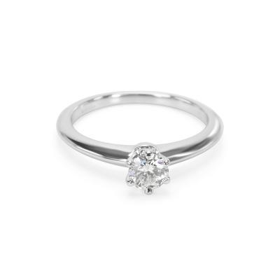 Tiffany Co Diamond Engagement Ring in Platinum F VS1 0 31 CTW